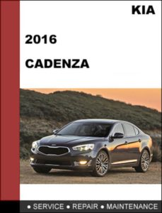 Kia Cadenza 2016 Service Repair Workshop Handbook